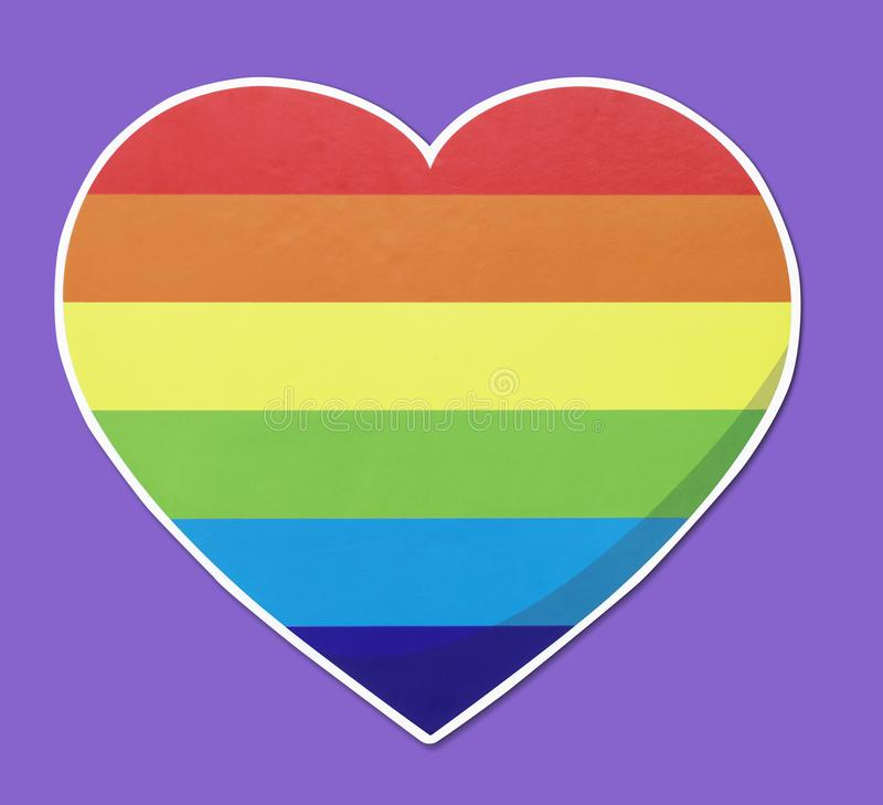 Isolated LGBT heart icon illustration royalty free stock photo