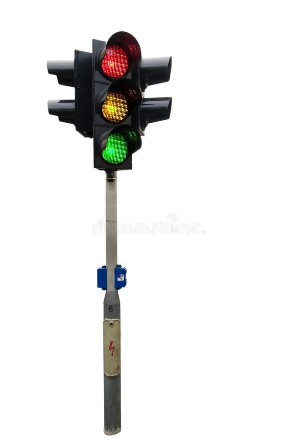 isolated light traffic στοκ φωτογραφία