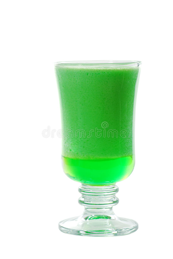 Isolated lime jello. On a white background royalty free stock photos
