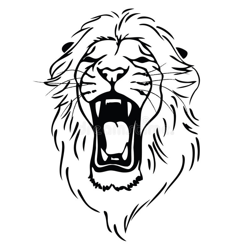 isolated lion head as a symbol sign emblem stock vector