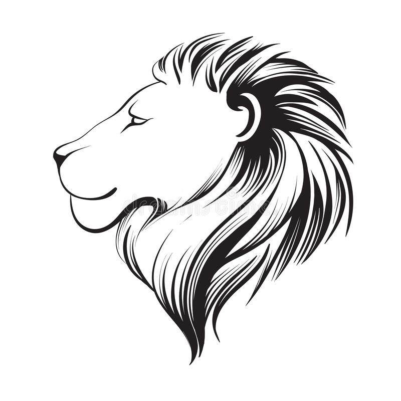 Free Isolated Lions Head, Vector Illustration. Lion`s Profile. Stock Image - 91802271