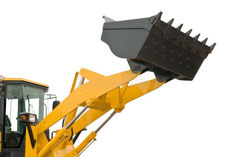 Isolated loader shovel stock images