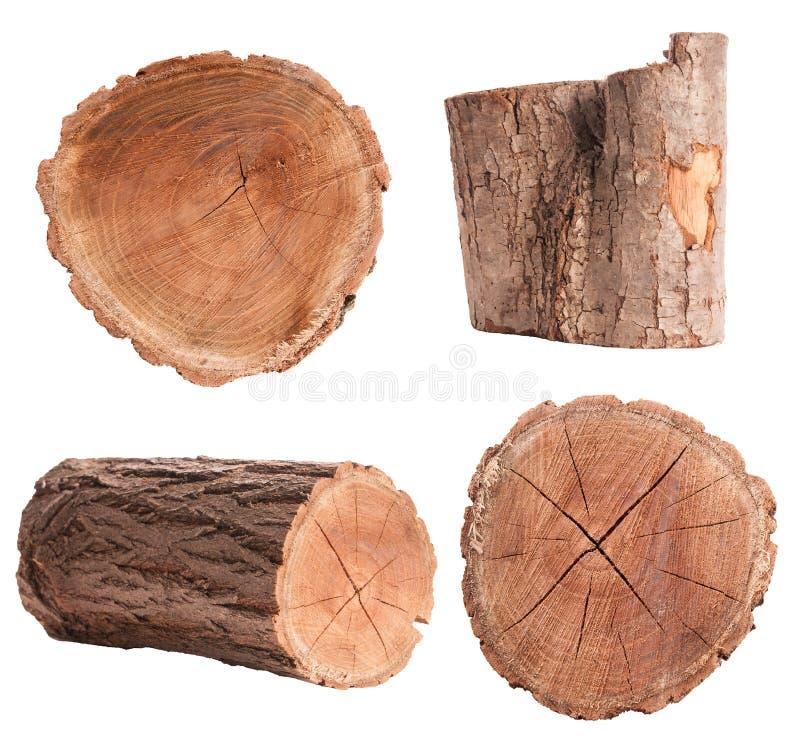 Isolated Log Set stock photos