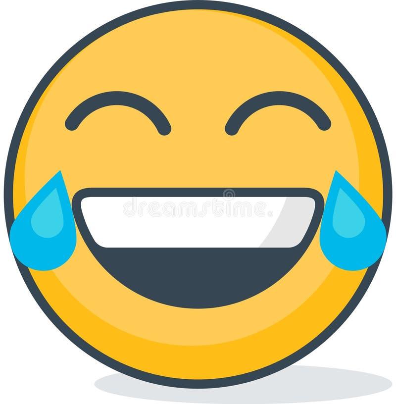 Isolated lol emoticon. Isolated emoticon. Isolated lol emoticon. Isolated emoticon on white background stock illustration