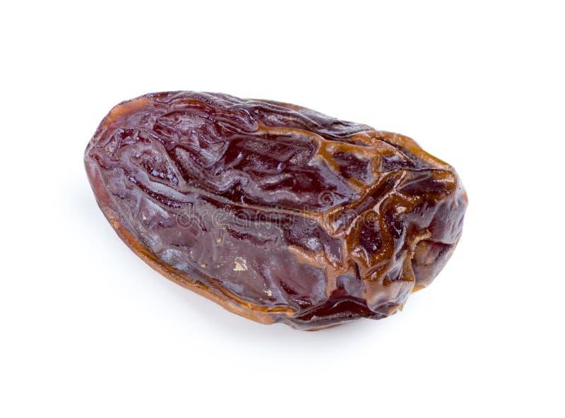 Isolated macro of fresh date fruit royalty free stock photo