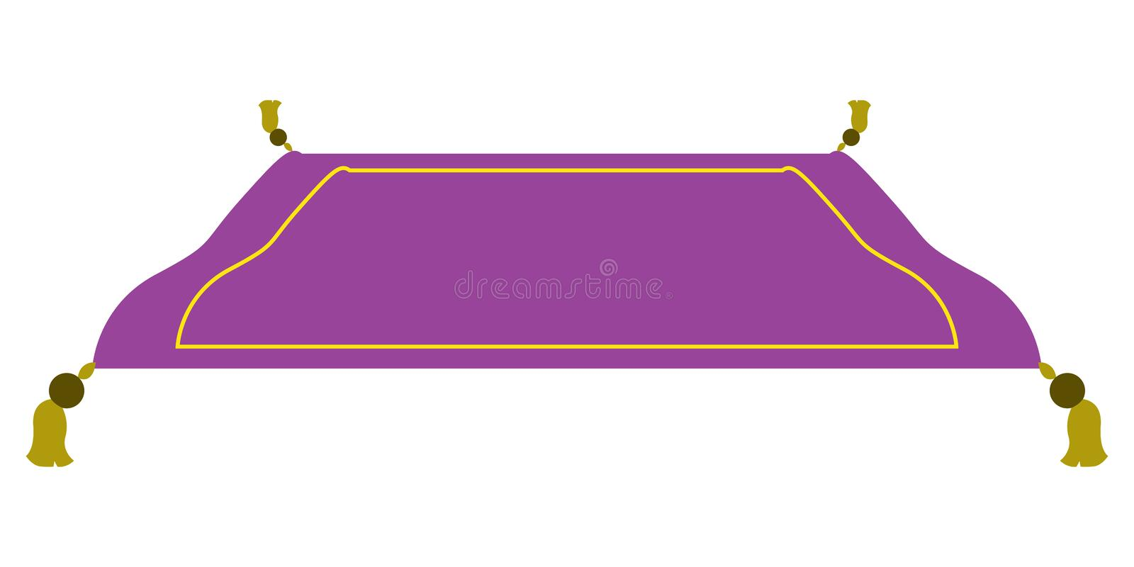 Isolated magic carpet. On a white background, Vector illustration vector illustration