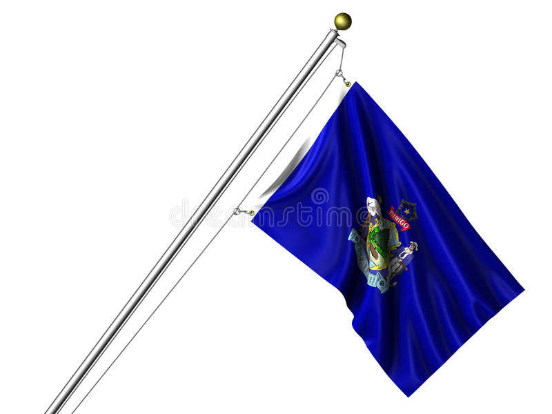 Download Isolated Maine Flag stock illustration. Illustration of rope - 8499132