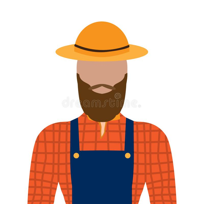 Isolated male farmer royalty free illustration