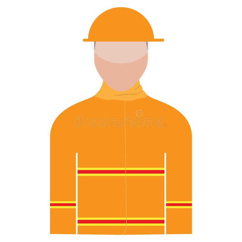 Isolated male firefighter avatar vector illustration