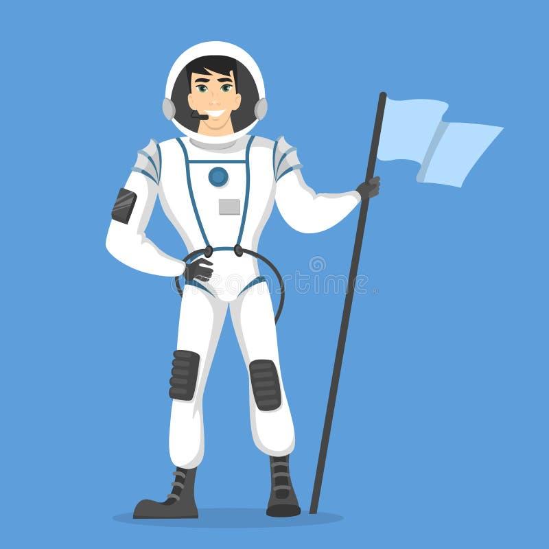 Isolated man astronaut. stock illustration