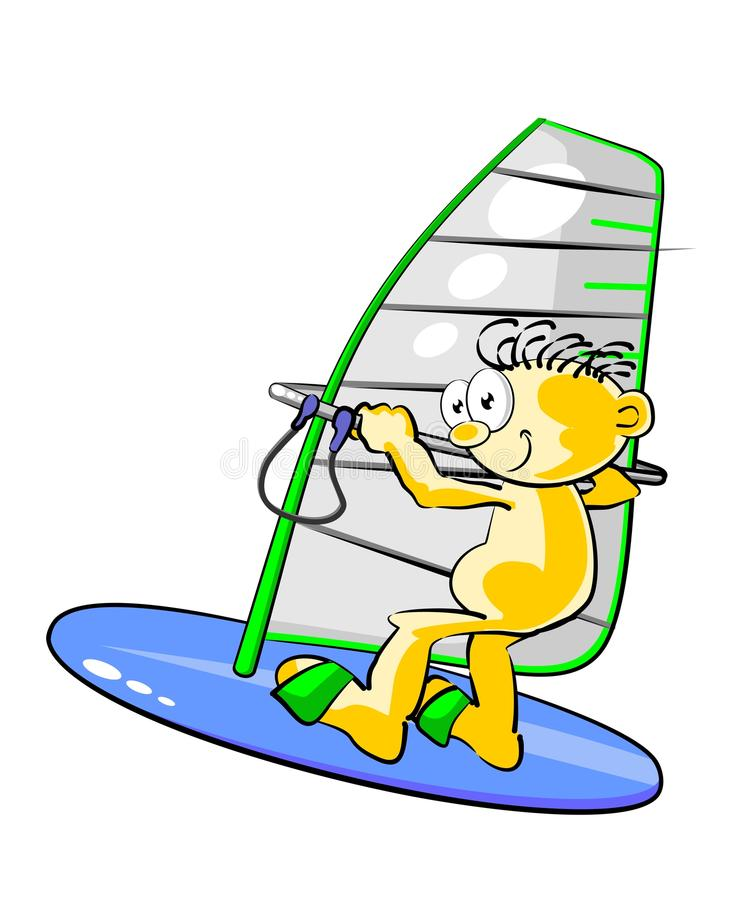 Download Isolated Man Windsurfing Stock Image - Image: 30359351