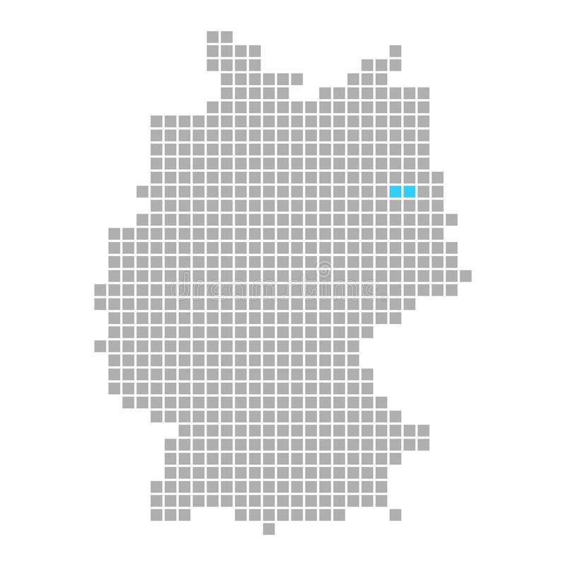 Berlin On Simple Map Of Germany Stock Illustration - Illustration of ...