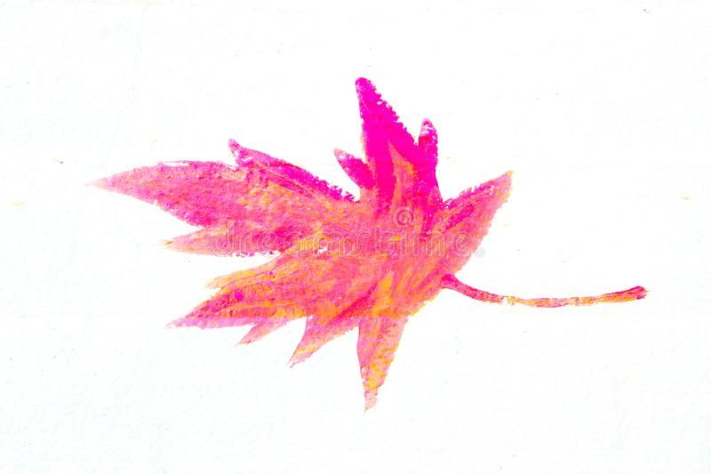 Isolated maple leaf painted on concrete royalty free stock images