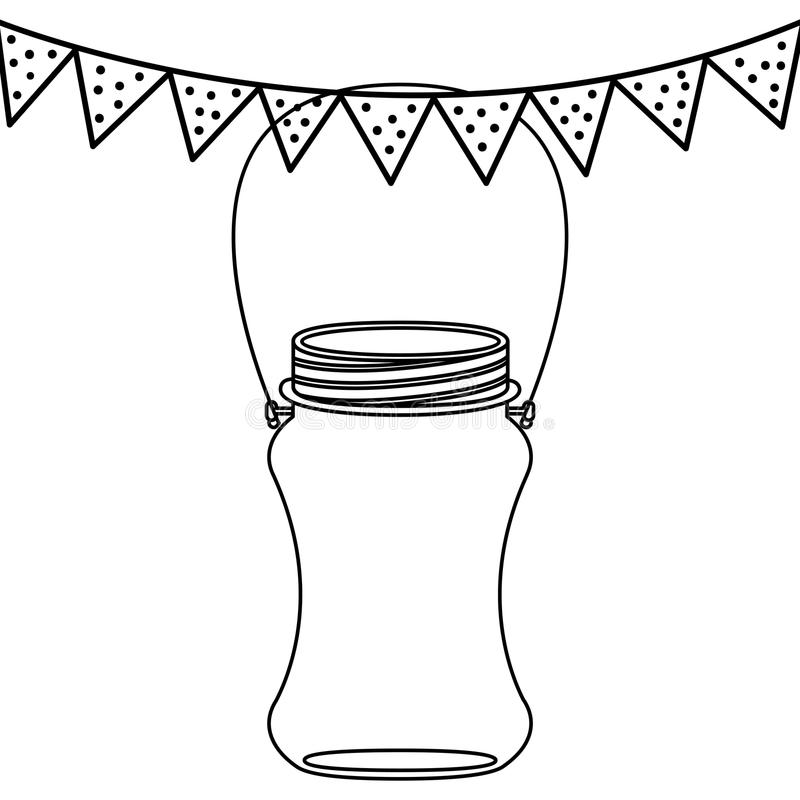 Isolated mason jar design stock illustration