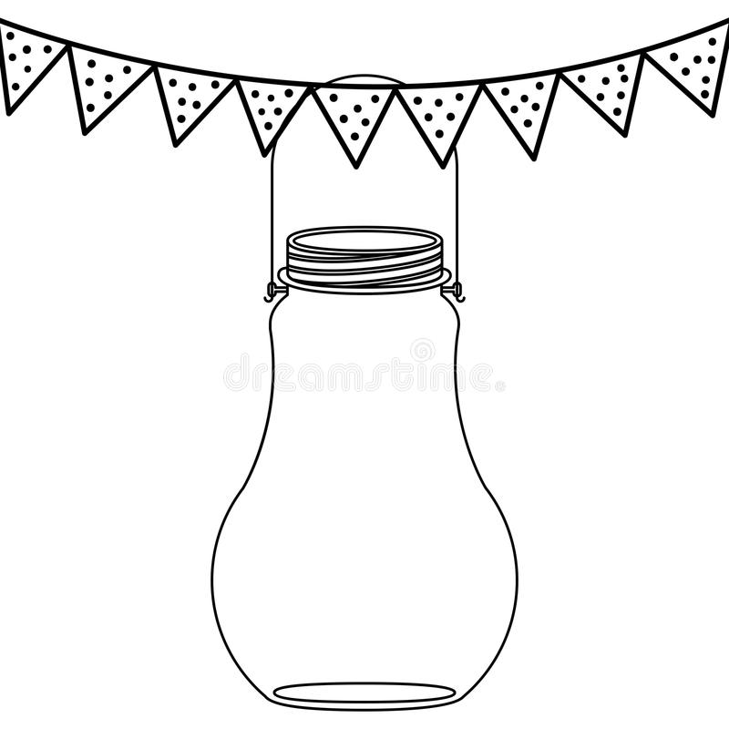 Isolated mason jar design royalty free illustration