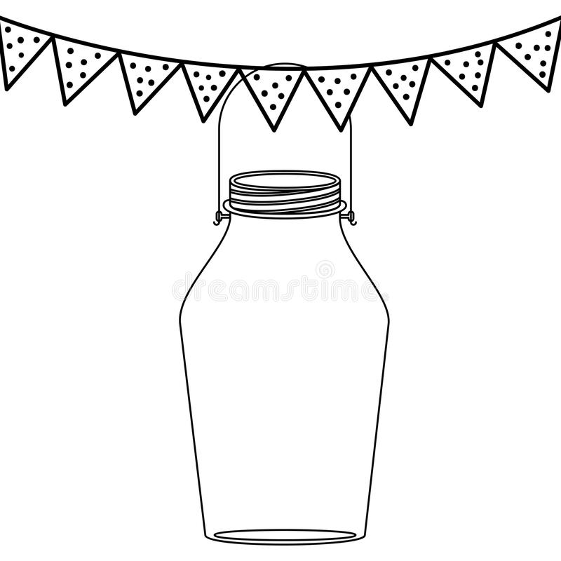 Isolated mason jar design vector illustration