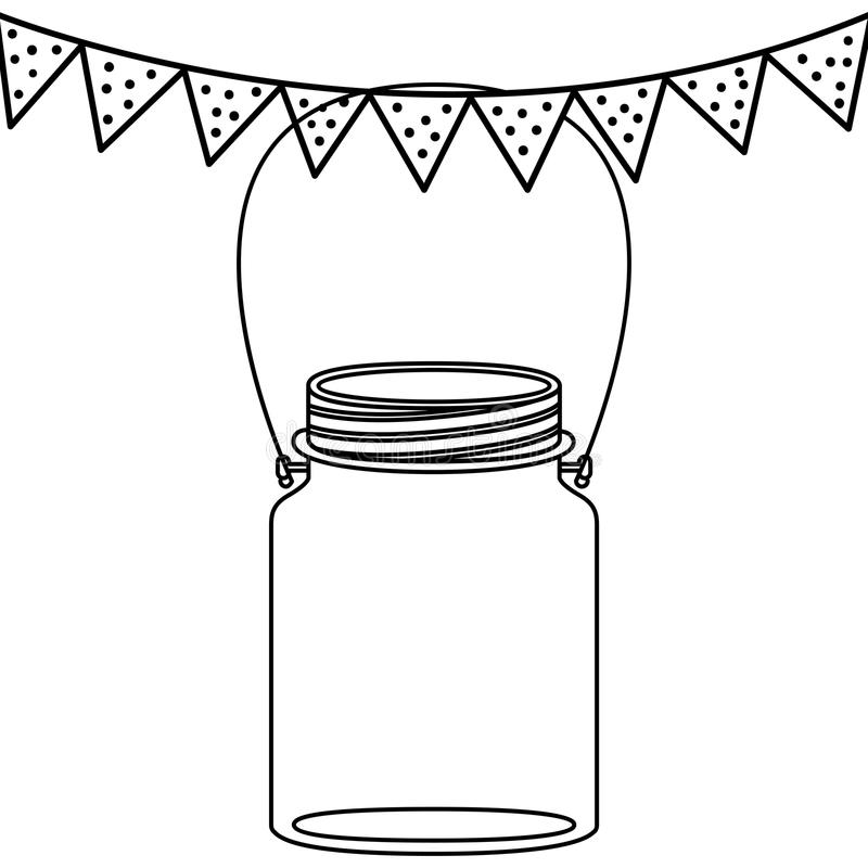 Isolated mason jar design stock illustration