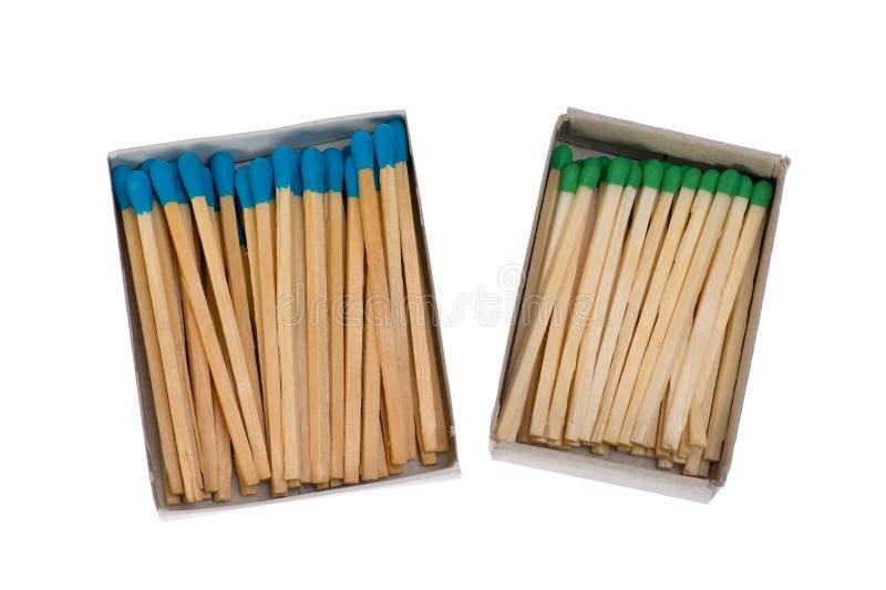 Isolated matchbox. Close up shot of matchbox isolated on white royalty free stock photography