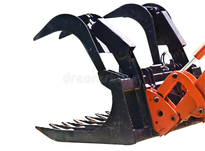 Download Isolated Mechanical Claw stock image. Image of construction - 10704961