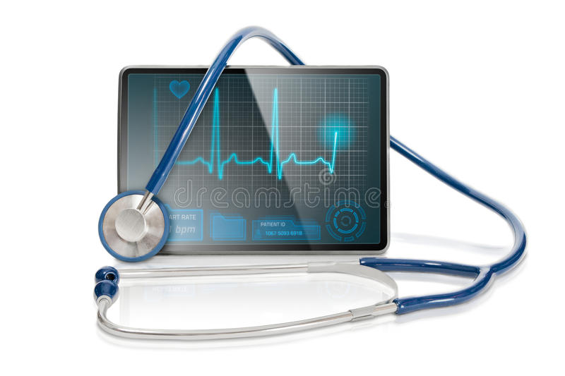 Isolated Medical Tablet Stock Photos