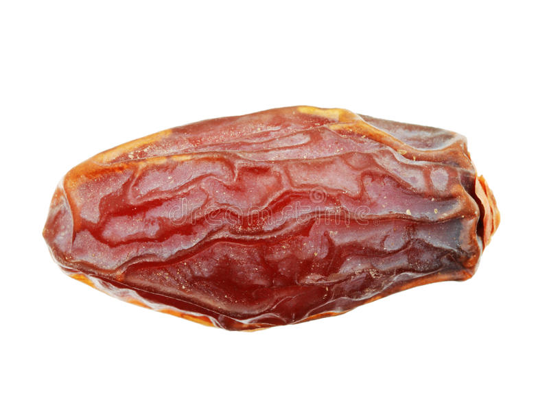 Isolated medjool date. Dried medjool date isolated on white background stock photo