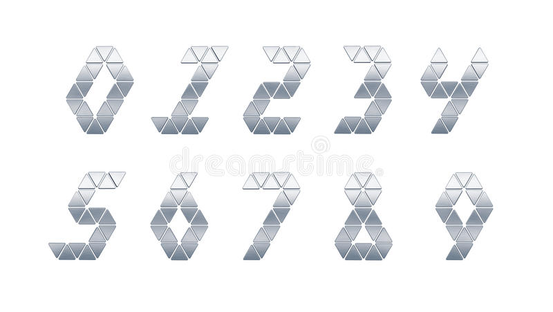 Isolated Metal Numbers Stock Photography