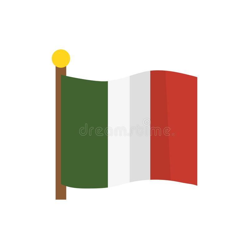 Isolated mexican flag vector design royalty free illustration