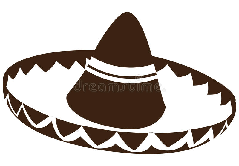 Isolated mexican hat. On a white background, Vector illustration vector illustration