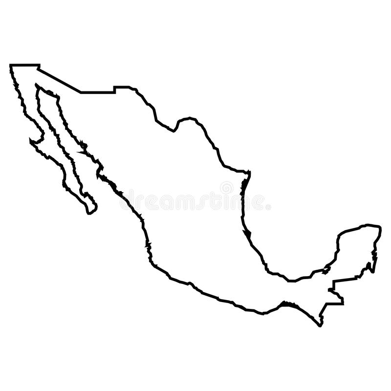 Isolated Mexican map royalty free illustration