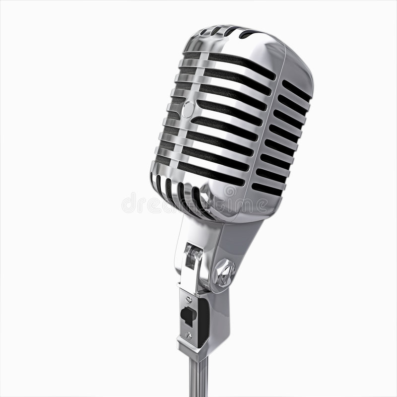 isolated microphone στοκ φωτογραφίες