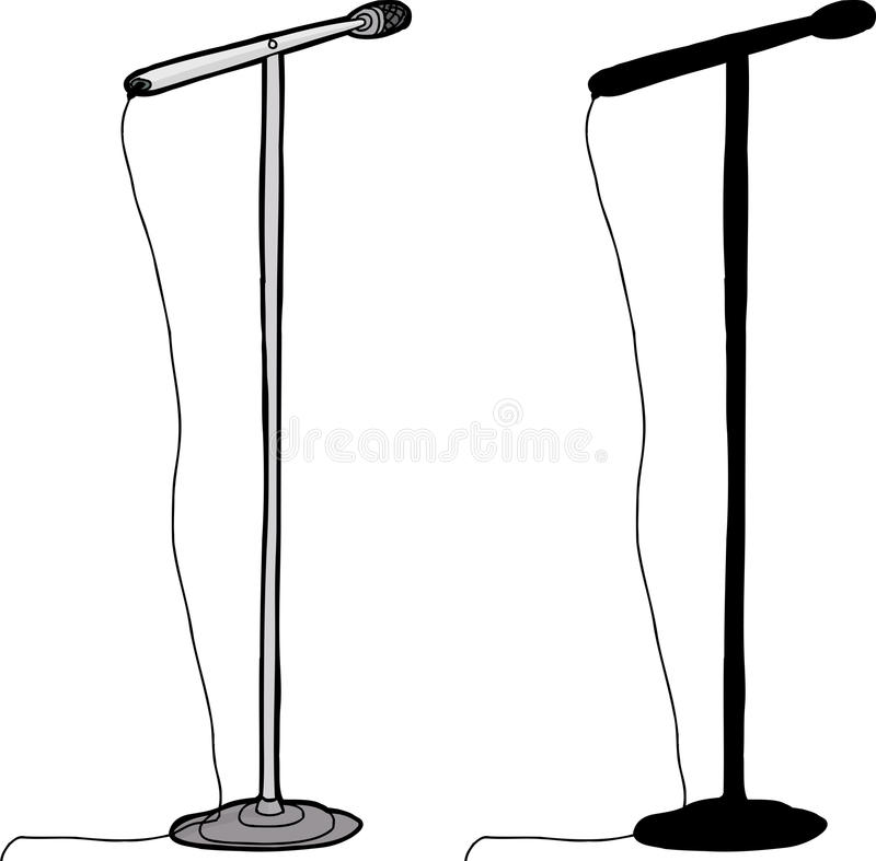 Isolated Microphone Stand stock vector. Illustration of ...