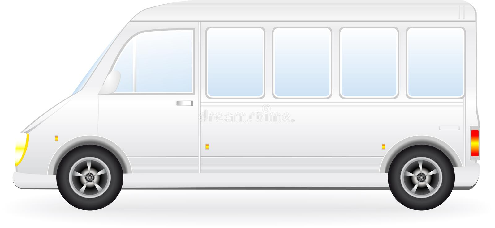Download Isolated Minibus Silhouette On White Background Stock Vector - Image: 25861632