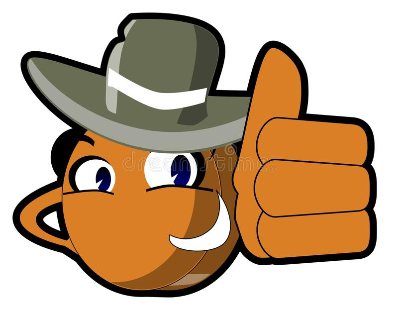Isolated Money cartoon with hat vector illustration