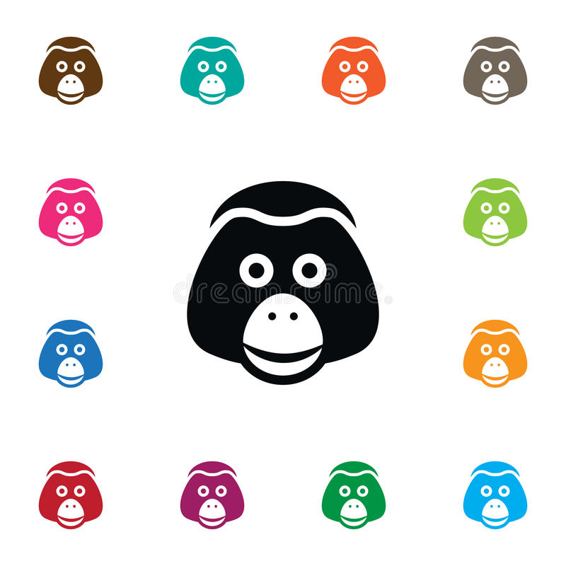 Isolated Monkey Icon Ape Vector Element Can Be Used For Monkey Ape