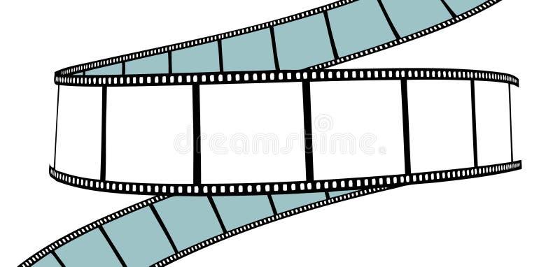 Isolated movie/photo film royalty free illustration