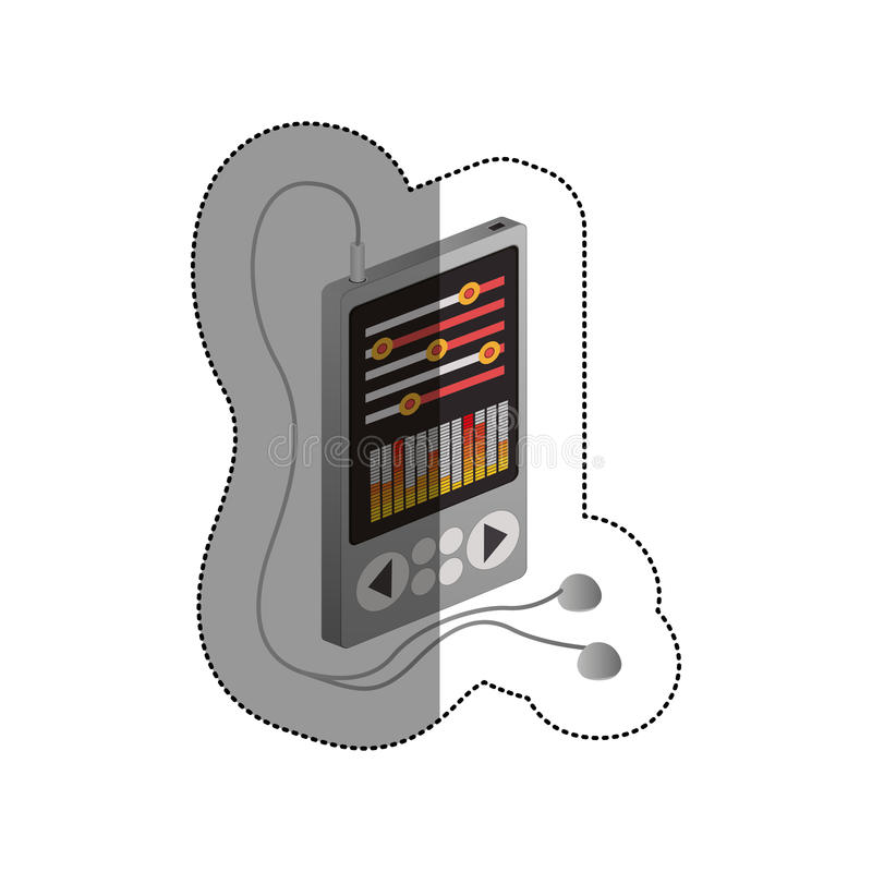 Isolated mp3 device design. Mp3 icon. Device gadget technology and electronic theme. Isolated design. Vector illustration royalty free illustration