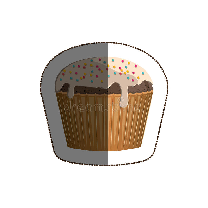 Isolated muffin design. Muffin icon. Cupcake dessert sweet and bakery theme. Isolated design. Vector illustration vector illustration