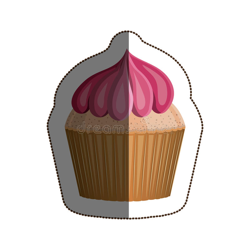 Isolated muffin design. Muffin icon. Cupcake dessert sweet and bakery theme. Isolated design. Vector illustration stock illustration