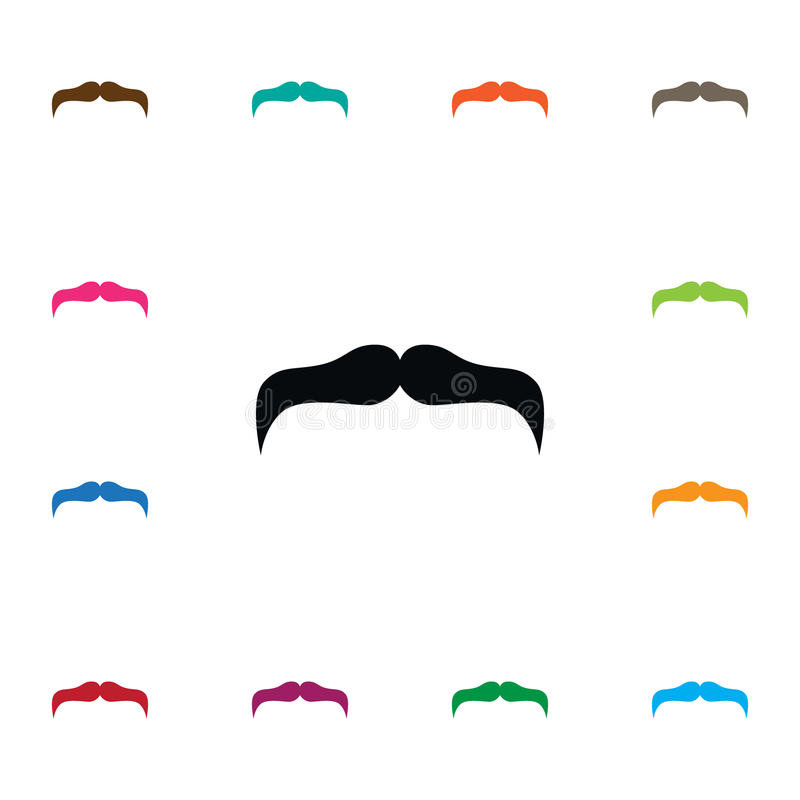 Isolated Mustache Icon. Goatee Vector Element Can Be Used For Mustache, Goatee, Stylish Design Concept. Goatee Vector Element Can Be Used For Mustache, Goatee royalty free illustration