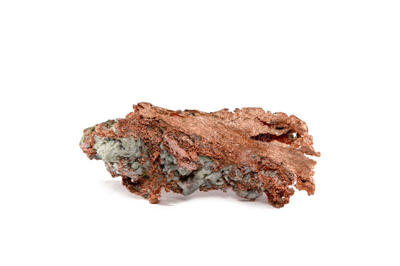 Isolated Native Copper Nugget royalty free stock images