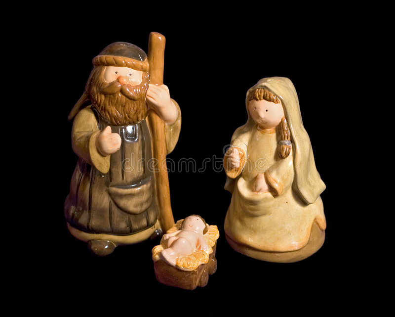 Isolated Nativity Scene stock image