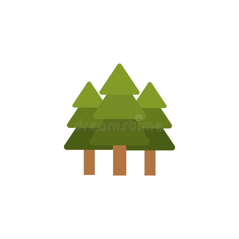 Isolated natural pine tree flat design vector illustration