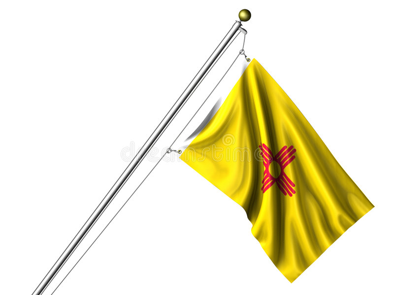 Isolated New Mexico Flag royalty free illustration