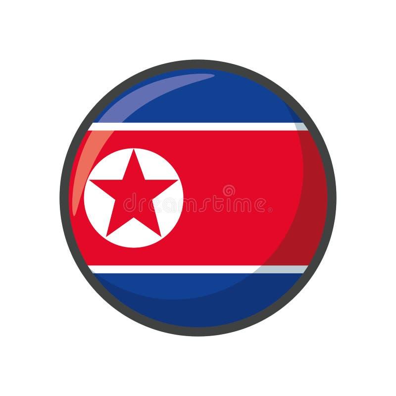 Isolated north korea flag icon block design stock illustration