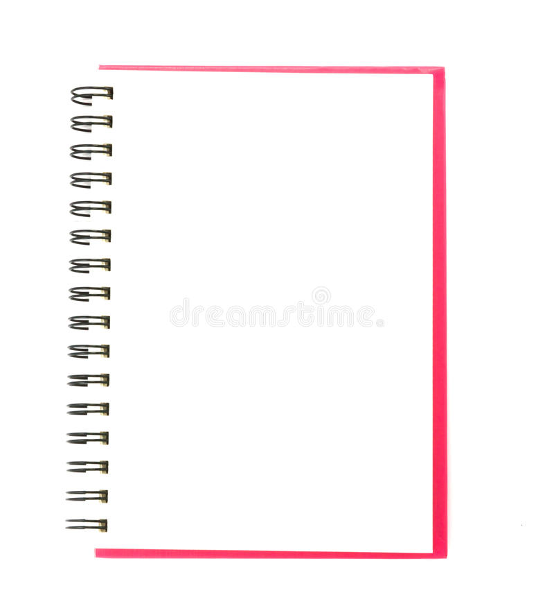 Download Isolated notebook stock image. Image of close, page, empty - 39507149