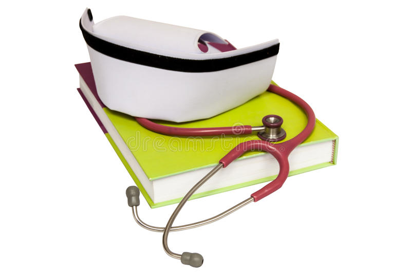 An isolated nurse hat royalty free stock images