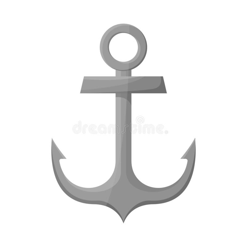 Isolated object of anchor and naval logo. Collection of anchor and maritime stock vector illustration. Vector design of anchor and naval icon. Set of anchor and vector illustration