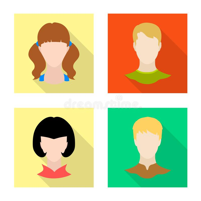 Isolated object of avatar and dummy icon. Collection of avatar and figure stock symbol for web. Vector design of avatar and dummy symbol. Set of avatar and vector illustration