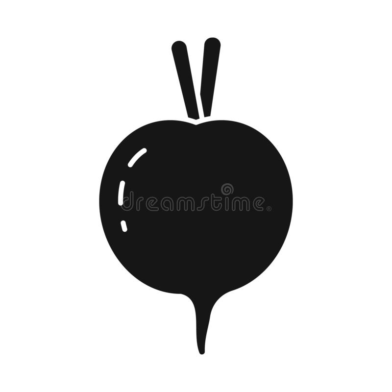 Isolated object of beet and beetroot logo. Set of beet and diet vector icon for stock. royalty free illustration