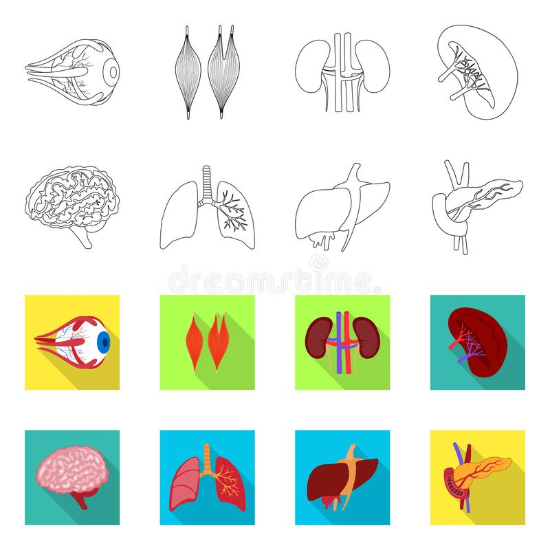 Isolated object of biology and scientific logo. Set of biology and laboratory vector icon for stock. Vector design of biology and scientific icon. Collection of stock illustration